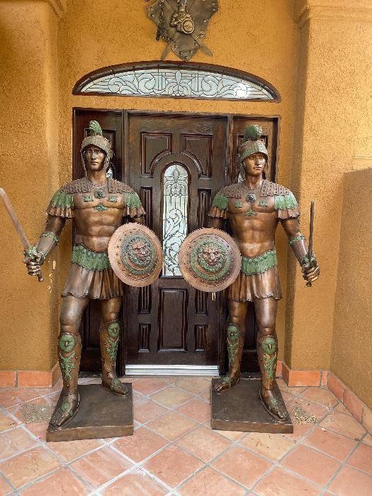 Bronze Guardian statues