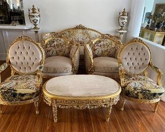 New Luxury romantic Tapestry living room set