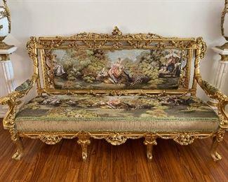 Luxury Tapestry Sofa