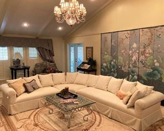 This fabulous sectional has recently been reupholstered. It is like-new!!