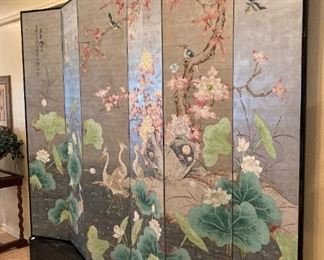 Exceptional 6-panel Asian screen