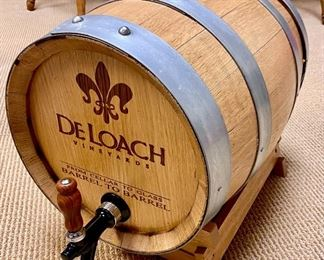 Wine barrel wine dispenser