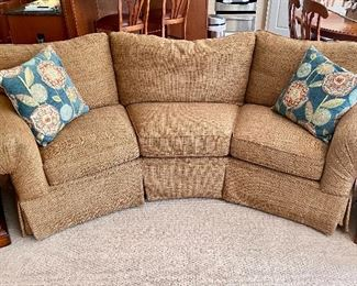 Basset curved sofa / couch