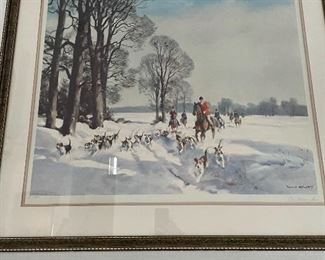 VINTAGE HUNT SCENE FROM THE 1970'S.  MATTE COLOR IS UPDATED.