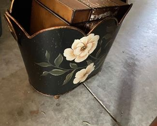 TOILE PAINTED CANS AND DECOR ITEMS