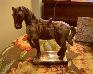 TANG STYLE CERAMIC HORSE.