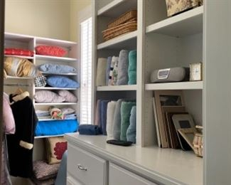 MASTER CLOSET WITH LINENS AND TOWELS