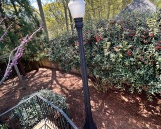 IMPORTANT SUMPTER, SC ELECTRIC STREET LIGHT WITH ADDITIONAL REPLACEMENT GLOBE. ADDITIONAL PICTURES AVAILABLE