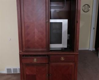 """Broyhill  entertainment  center   79""""  tall,  45""""  wide  and  25""""  deep    This  is  in  good  condition and  will  be  free  sunday."""