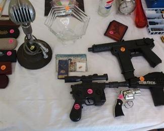 Waterford  bowl    (sold)                               1978 starwars  blaster, star trek toy gun, snub nose toy gun ,pepsi glass, turner crystal 33X  microphone(sold)