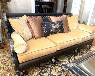 "92"" wide Century sofa with custom fabric"