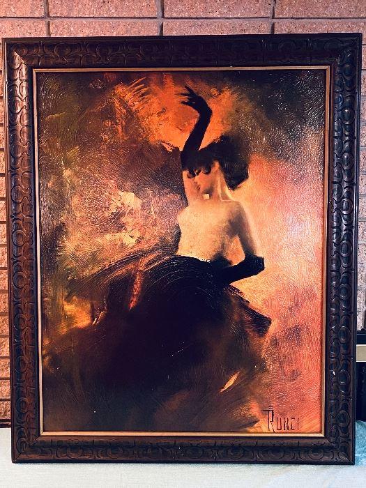 Gorgeous Edward Runci Framed Painting