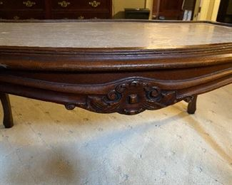 "Lot #114- $125 Coffee table upstairs. 36"" x 20"""