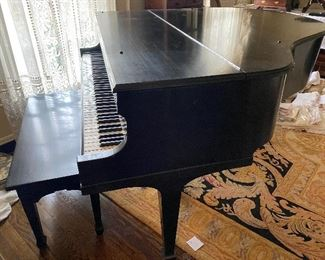 "Lot#102A $2,000- Baldwin Monarch 48""grand piano with bench.  pedals need repair, but keys, felts, hammers in good condition"