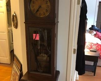 This clock is German.  It's at least 100-150 years old.