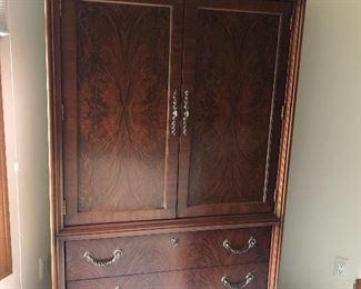 Drexel Studio Mahogany Wardrobe/Armoire with 3 drawers