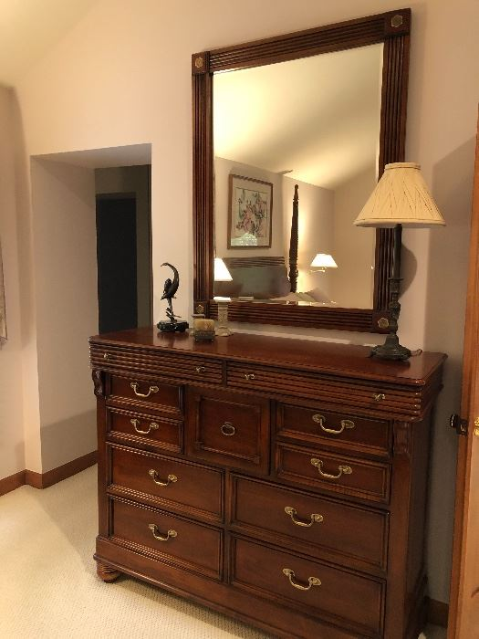 Lexington 11-drawer dresser and mirror