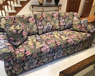 3-cushion couch by Henredon - custom fabric by Robert Allen - excellent condition