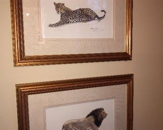 """""""Big Cats"""" - 2 of 4 - signed and letter of authenticity"""