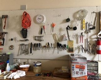hand Tools - clean and organized