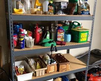 Chemicals - and storage shelf