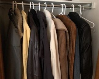 Women's coats - leather, suede and wool - size S and M