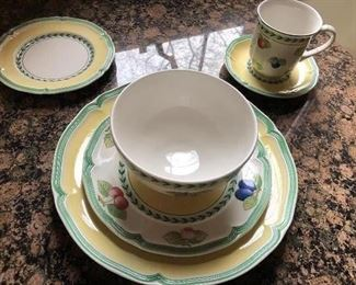 Villeroy & Boch  - porcelain dishes - French Garden Vienne