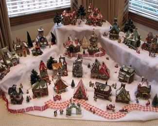 Christmas village - extensive collection