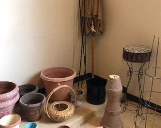 pots and plant stands