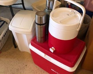 coolers and thermos containers