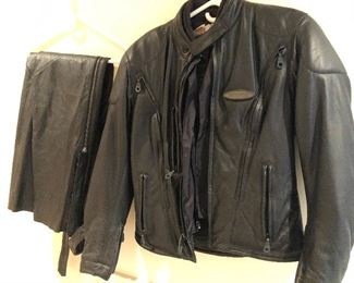 Leather Riding Jacket and pants
