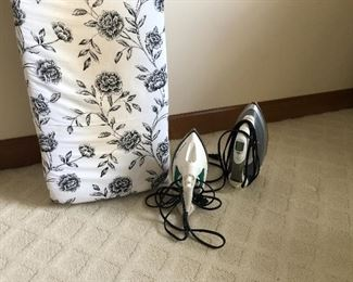 Ironing board and irons