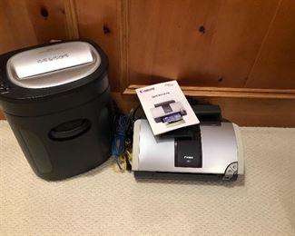 Paper shredder and cannon printer