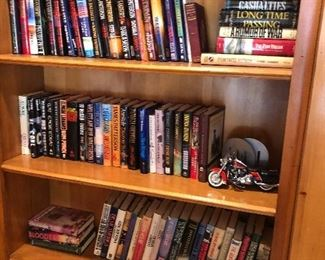 books and Harley motorcycle model