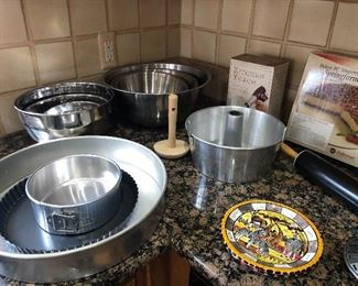 stainless steel bowls, springform pans and more!