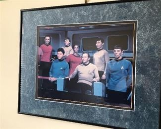 STAR TREK - autographed by all actors of the original series - with certificate of authenticity
