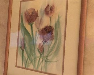 Watercolor and mixed media - set of 2 by Hop Atkinson