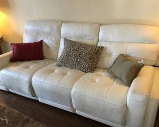 Reclining sofa with pillows on it - decorative pillows range in price from $3-8.00