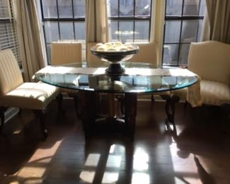 Dining table $400.00 (six chairs)