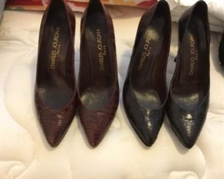Charles Jourdan heels - brown & black - size 6 1/2 - $40 each