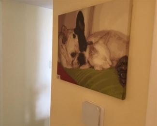 French bulldog painted canvas - $20.00