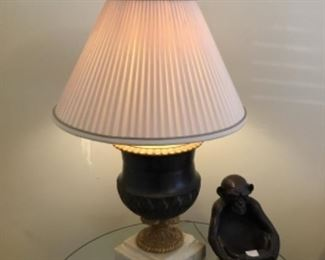 Decor = Lamp - $35.00;  Monkey $40.00