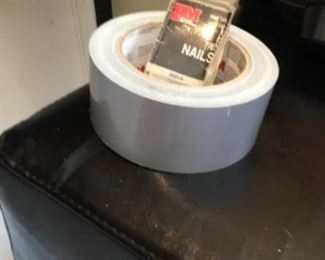 Nails $.50 and duct tape roll $3