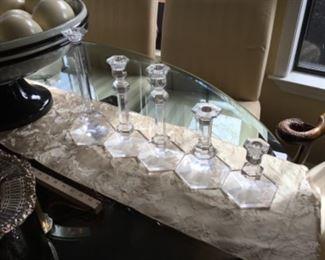 Candle sticks on dining table - $12-$4 by size