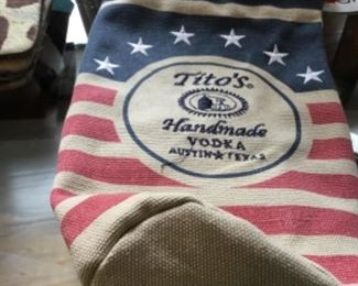 Tito's canvas bag