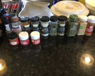 Spices - large = $2.00; Small = $1.00
