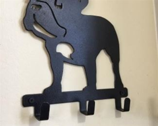 "Metal key holder in ""French Bulldog"" design - $12.00"