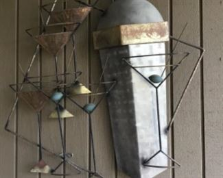 Metal sculpture on patio - $40