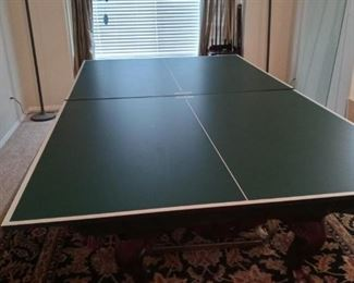 Ping Pong cover for pool table