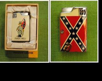Penguin Lighter - 2 sided - rebel and rebel flag